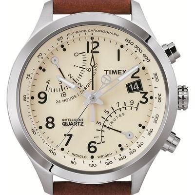Montre Chrono Fly-Back Timex T2N932D7.  Coloris : Marron. Prix : 159.0 €. <p>Montre Timex pour homme</p> <p> Faire fonctionner un chronographe traditionnel grâce à une technologie de pointe change tout. Une quatrième aiguille innovante et des...