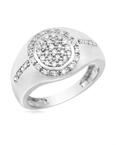 Round Sterling CZ Band