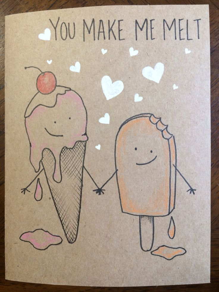 You make me melt card