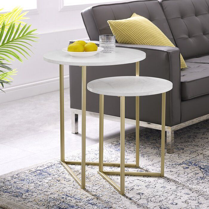 Mercury Row Mcnett 2 Piece Nesting Tables Reviews Wayfair Ca
