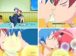Kiss Samatarou and Tenko  kamisama Kazoku