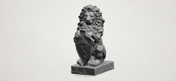 Lion  With Welcome Shield