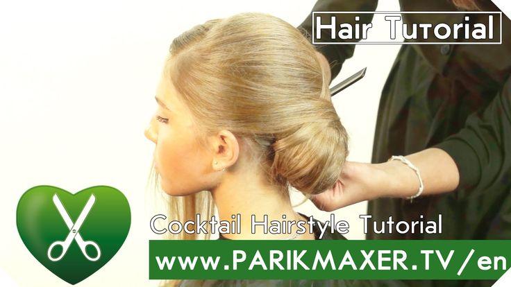 Cocktail Hairstyle Tutorial parikmaxer tv english version