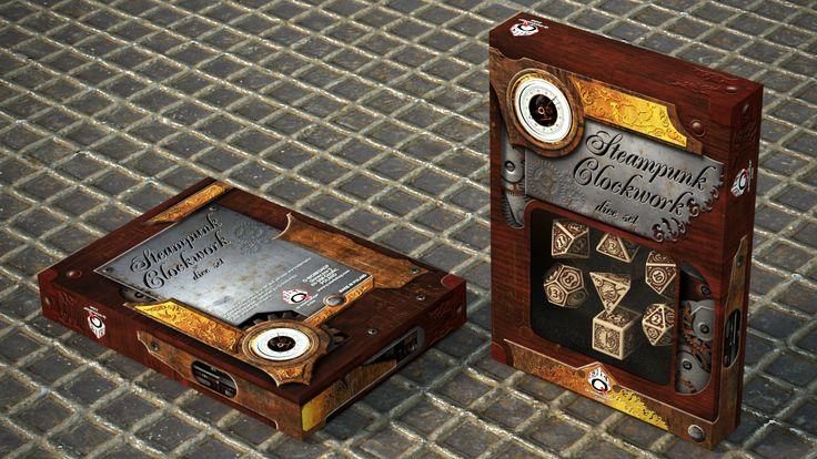 Render of Steampunk Clockwork in the box