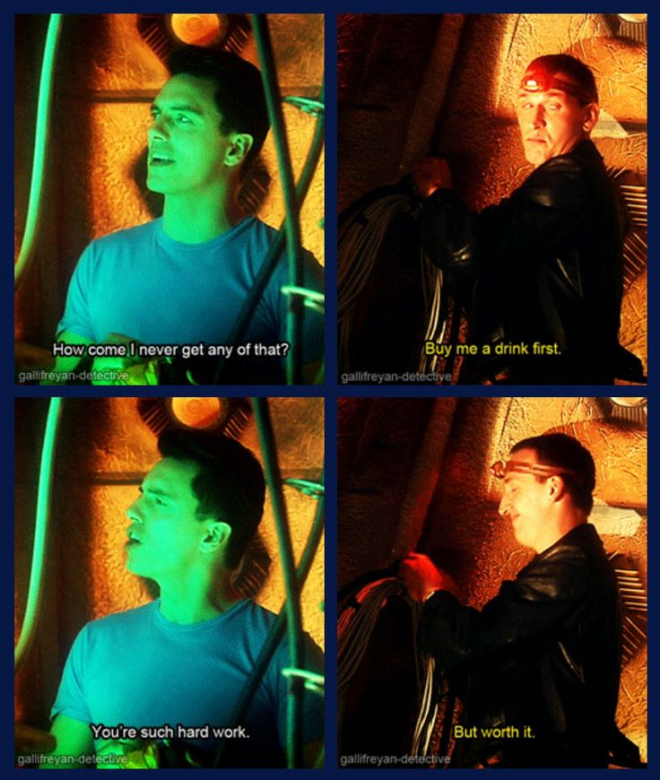 Nine... And Mr. Flirty Pants... I mean Captain Jack Harkness but they both work. This is one of the best parts XD