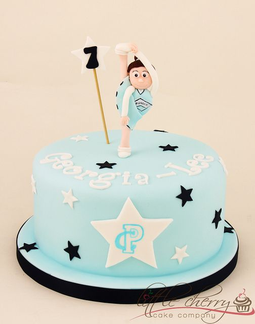 Pioneer Cheerleading Cake by Little Cherry Cake Company, via Flickr