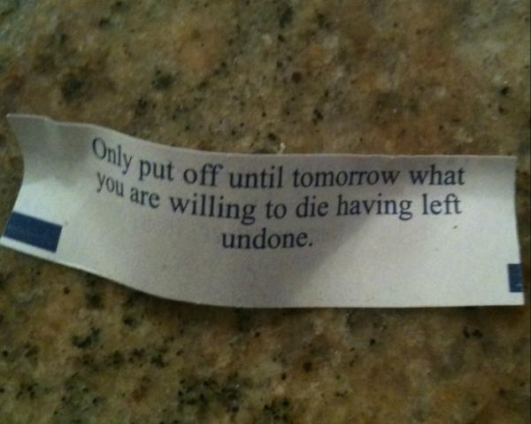 So glad I decided to get thai for dinner. Read this amazing quote from my fortune cookie #life #sayingstoliveby