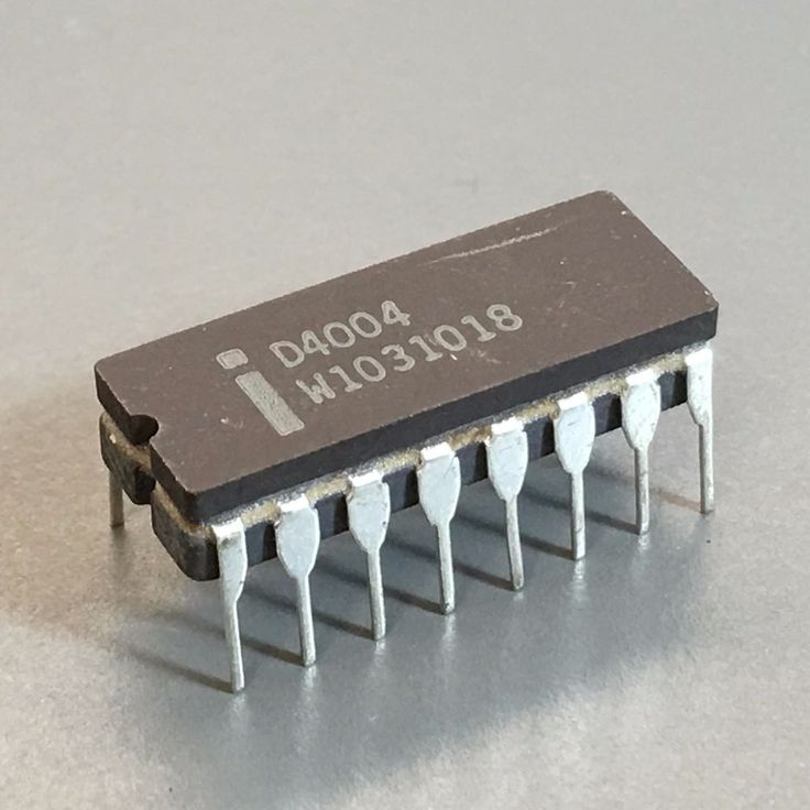 Intel 4004 Microprocessor - The First Microprocessor (NOS,D4004,computer chip | Computers/Tablets & Networking, Vintage Computing, Vintage Parts & Accessories | eBay!