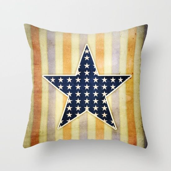 American star 1  #art #design #america #usa #patriot #throwpillow #exclusive #homedecor #interior #star #cushion #design #america #artist