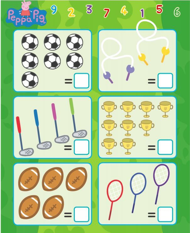 """Peppa Pig """"Count the Sports"""" Printable!"""