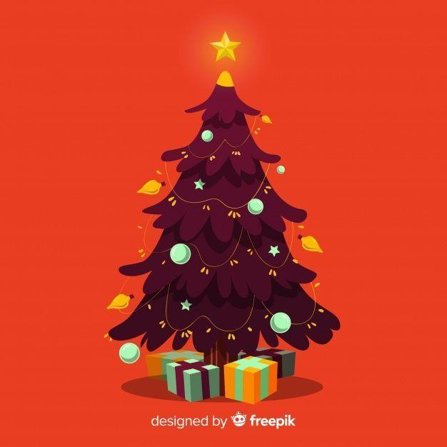 Hand Drawn Christmas Tree Illustration F Premium Vector Freepik Vector B Christmas Draw In 2020 Christmas Tree Drawing Christmas Tree Art Tree Illustration