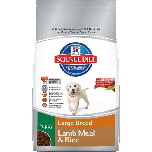 Hill's Science Diet Puppy Lamb Meal and Rice Recipe Large Breed Dry Dog Food Bag, 33-Pound - http://www.thepuppy.org/hills-science-diet-puppy-lamb-meal-and-rice-recipe-large-breed-dry-dog-food-bag-33-pound/
