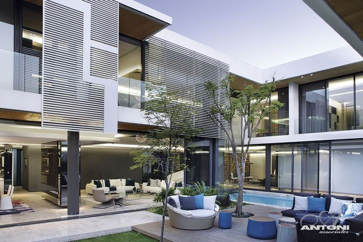 Modern mansion and its terrace