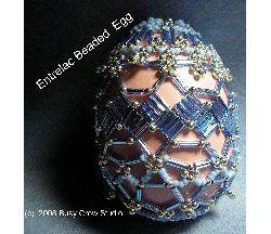 Bugle Entrelac Band Beaded Egg, Sova Enterprises