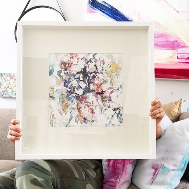 """Breez - Framed Art print """"Flowers To Give"""""""