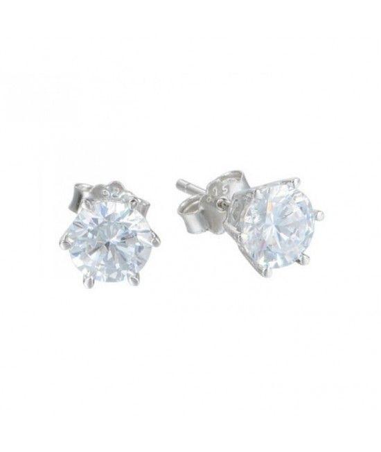 Cercei realizati din argint 925 decorati cu cristale Swarovski. Reprezinta cadoul ideal pentru doamnele ce adopta un stil elegant.