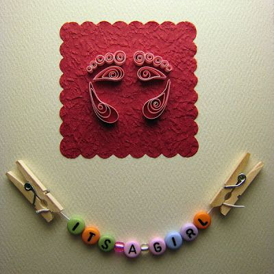 Crafting Creatures: Quilled Baby Shower Card