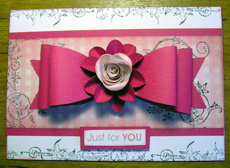 Kaszazz Card Making Ideas Part - 37: Kaszazz Bow Die Card · Card Ideas
