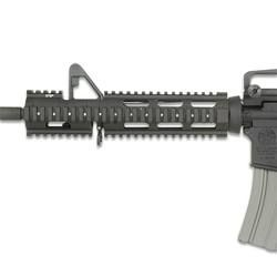 AR-15 Extended M4 Carbine Quad Rail Black Leapers UTG PRO Forearm Replaces Original Handguards 10.7   MTU015