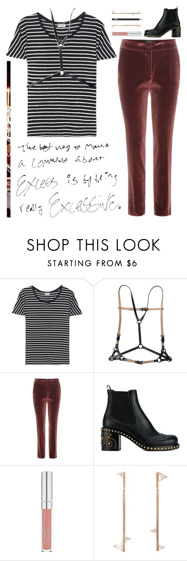 """""""Current Trends"""" by claralodesky ❤ liked on Polyvore featuring Yves Saint Laurent, BCBGMAXAZRIA, Etro, Miu Miu, Eva Fehren and NARS Cosmetics"""