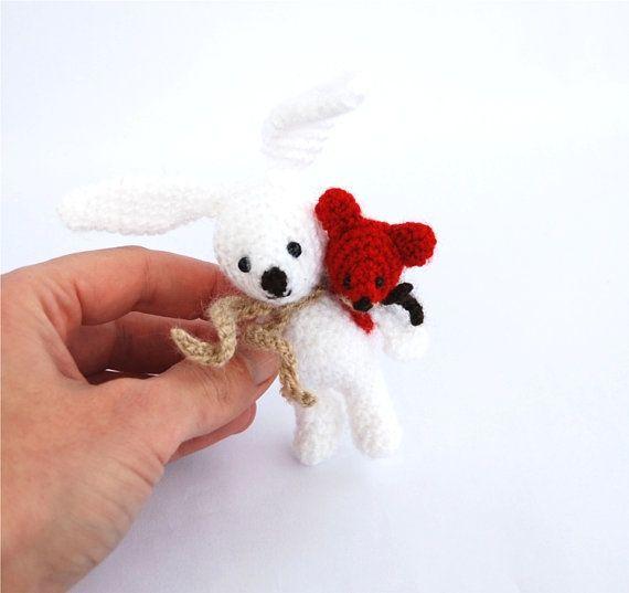 Easter bunny crocheted cute miniature by tinyworldbycrochAndi, $21.48