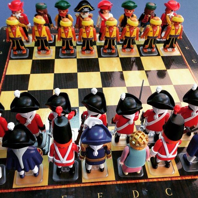 Una partida de ajedrez de #playmobil?