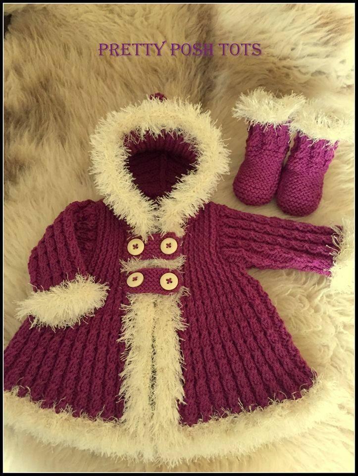 Knitting Patterns And Wool Sets : Little eskimo coat set Knitting Pinterest Coats, Knitting patterns and ...