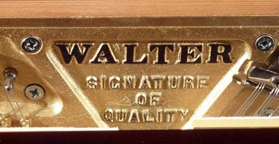 Walter Piano Signature of Quality in the Cast Iron Frame