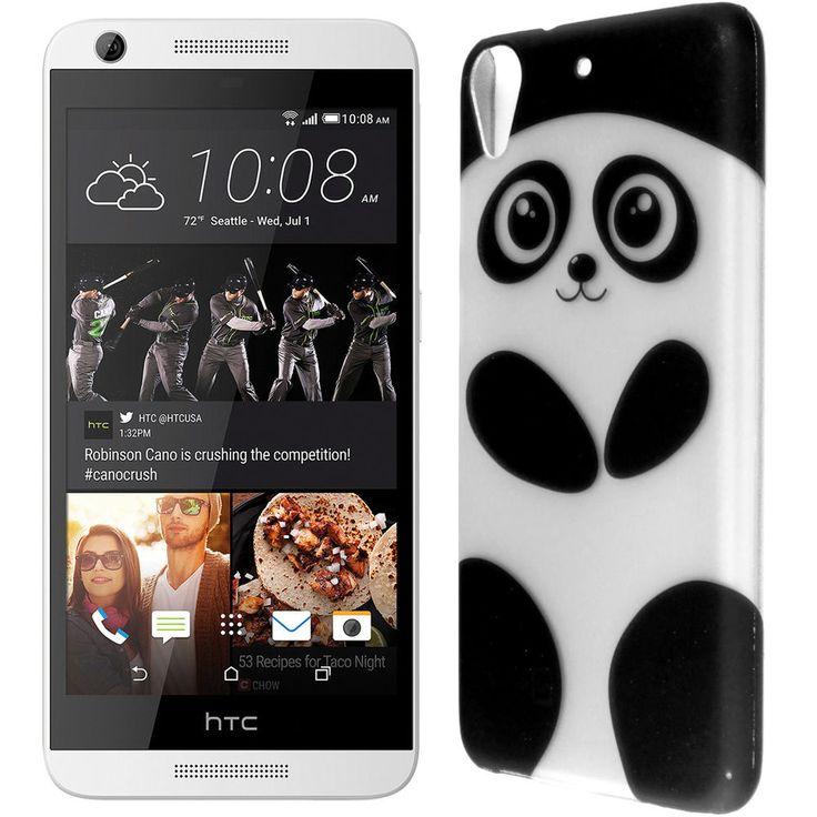 Hard Phone Case for HTC Desire 626 / 626S - Cute Panda Design Slim Back Cover
