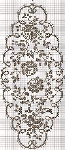 Filet crochet chart....                                                                                                                                                      More