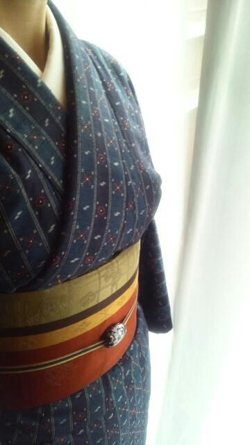 kimono by National Living Treasure of Japan, Sada Yonamine (1909~2003)