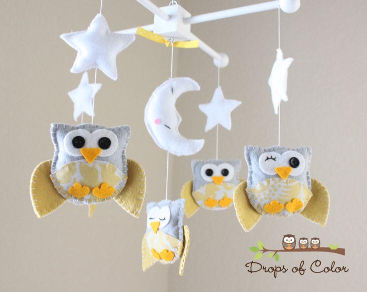 Nursery Owl Mobile -