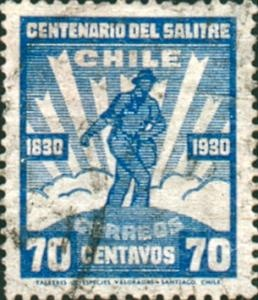 1930's Chilean nitrate stamp