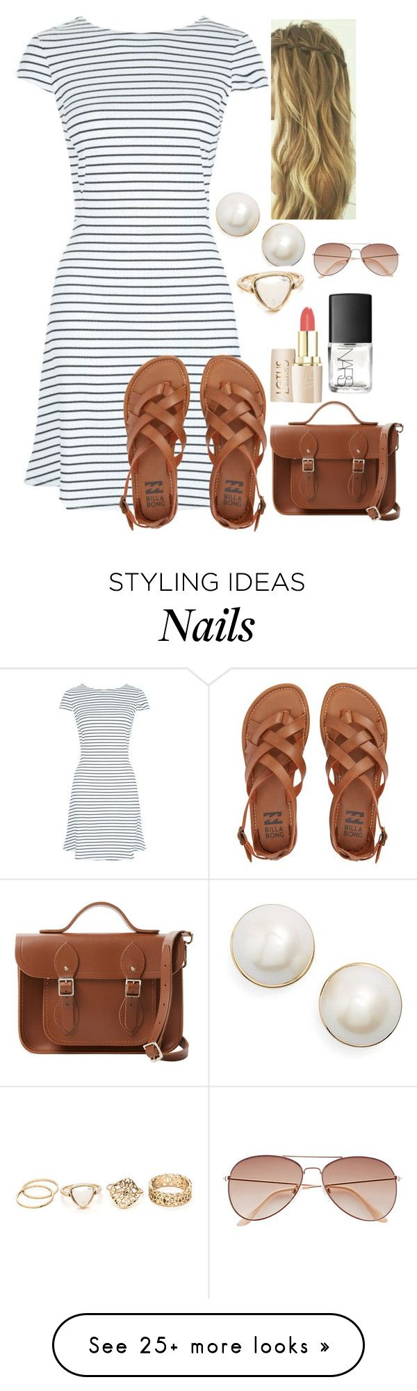 """What do you love to do?"" by jasietote on Polyvore featuring Billabong, Kate Spade, The Cambridge Satchel Company, NARS Cosmetics and H&M"