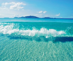 .Crystals, Clear Water, Blue, The Ocean, Ocean Waves, Sea, The Bahamas, Beach, The Waves