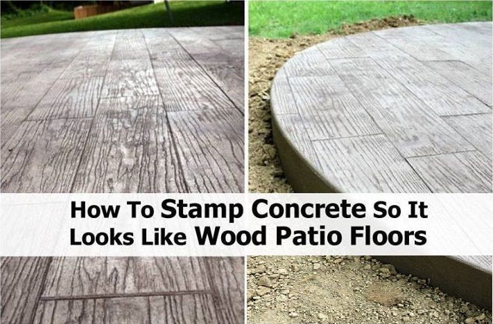 How To stamp concrete So It looks Like A Wood Patio Floor - (outdoors, DIY, how-to, tutorial)