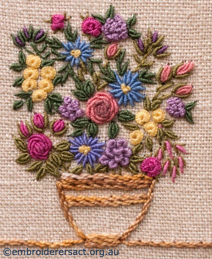 Stitched Flower Basket