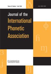Typology and acoustic strategies of whistled languages: Phonetic comparison and perceptual cues of whistled vowels / Julien Meyer. Journal of the International Phonetic Association / Volume  38 / Issue 01 / abril 2008, pp 69 - 94. No disponible de libre acceso. Para usuarios ULL si está disponible.