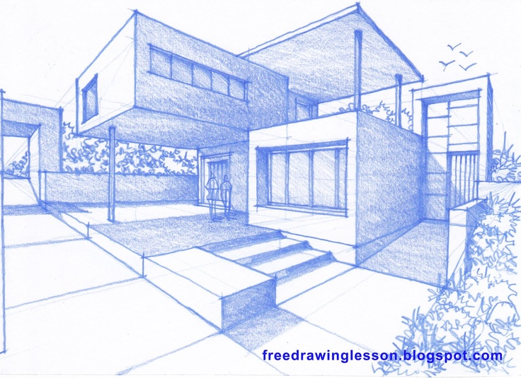 perspective, drawing and sketching Amazing houses and