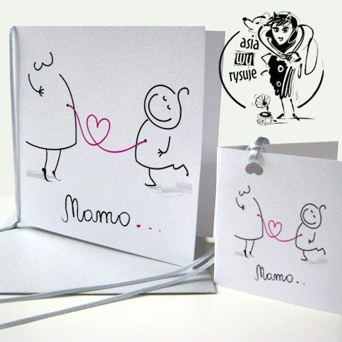 Dzień Matki - asiawurysuje, rysunek, ilustracja, projektowanie graficzne