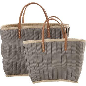 Väska med läderhandtag - stor 1 HemmetsHjarta