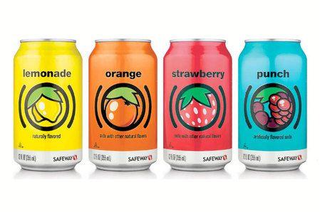 Safeway Fruit Flavored Sodas Fruit packaging, Juice