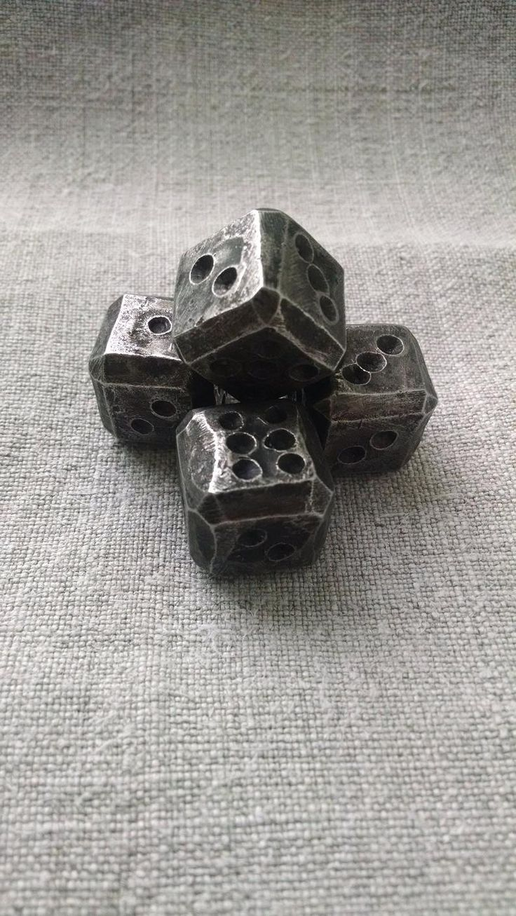 Iron dices, dices, set of 4 dices, dice games, tabletop