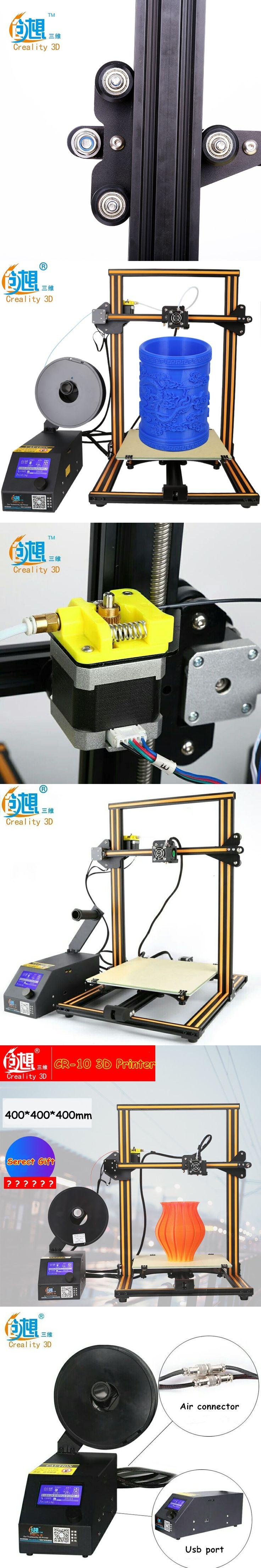 Free Shipping 2017 Newest 3 D Metal Printer Creality CR-10 Big Print Size 400*400*400mm DIY 3D Printer Kit With Free Filaments