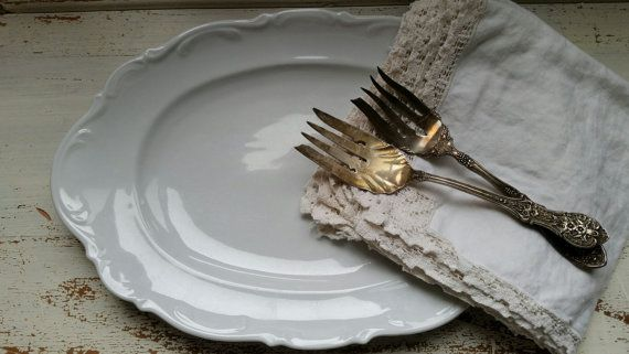 Large White Farmhouse Platter by FARMHOUSE1711 on Etsy