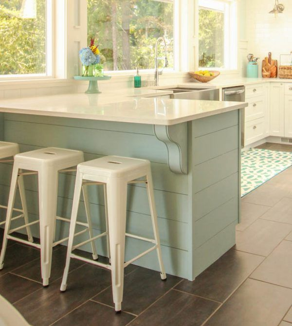 Update A Plain Kitchen Island Or Peninsula With Planks And Corbels Design Inspirations