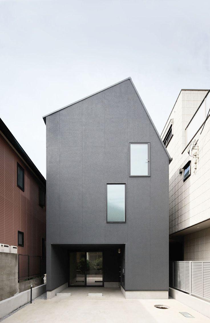 Light well house kino architects maisons pinterest for Minimalist house of kashiba