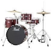 Pearl Drums - Roadshow 4-Piece Drum Set - Wine Red, DRSRS584CC91
