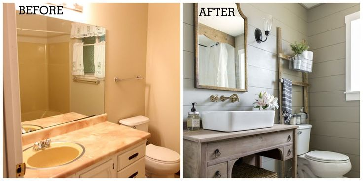 """Goodbye """"dark and cramped yellow time capsule,"""" hello cozy-yet-sophisticated bathroom oasis."""