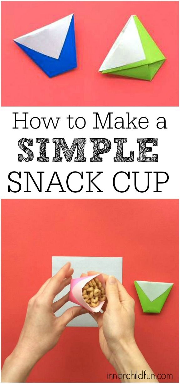 Make a Cup from a Sheet of Paper - This is such a handy trick to know!